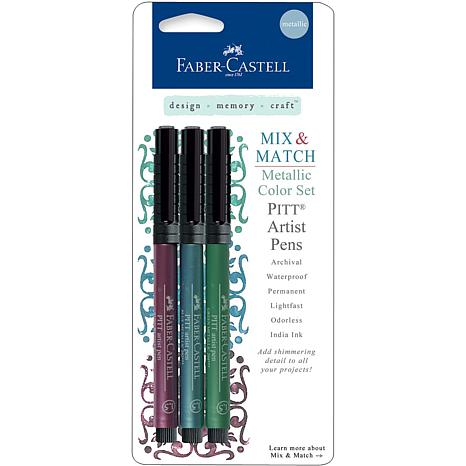 Mix and Match Metallic Pens - Ruby, Blue, Green