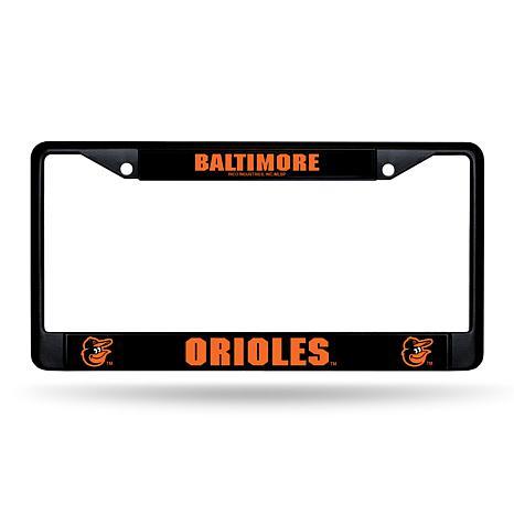 MLB Black Laser-Cut Chrome License Plate Frame -  Orioles