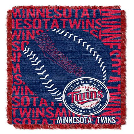 MLB Double Play Woven Throw - Minnesota Twins
