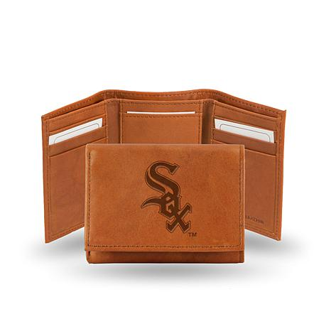 MLB Embossed Leather Trifold - White Sox