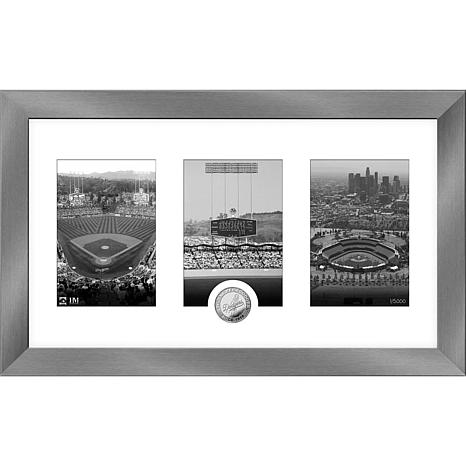 MLB Los Angeles Dodgers Art Deco Silver-Plated Coin Photo Mint