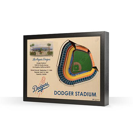 MLB Los Angeles Dodgers StadiumViews 3-D Wall Art - Dodger Stadium