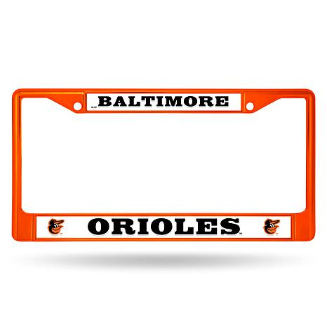 MLB Orange Chrome License Plate Frame - Orioles - 8541490 | HSN