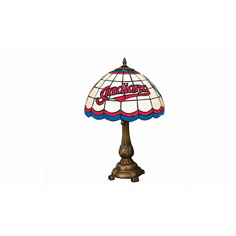 MLB Tiffany-Style Table Lamp - Cleveland Indians