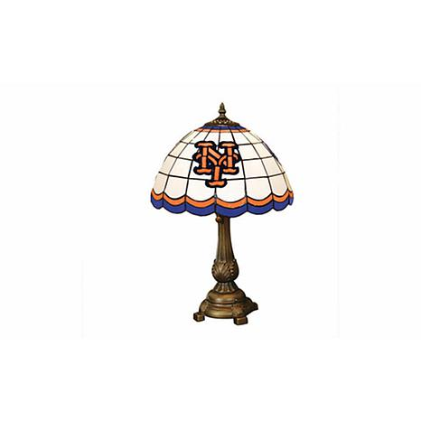 MLB Tiffany-Style Table Lamp - New York Mets