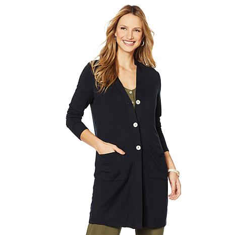 ModernSoul® French Terry V-Neck Duster with Pockets