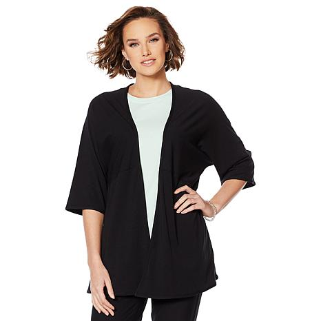 ModernSoul® Open-Front Pieced Dolman Sleeve Cardigan