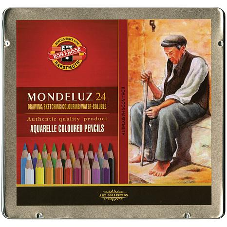 Mondeluz Aquarell Watercolor Pencils by Chartpak - 24pk