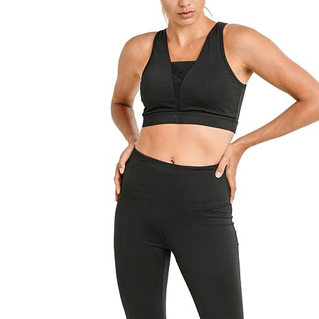 Mono B Racerback Hybrid Sports Bra with Mesh