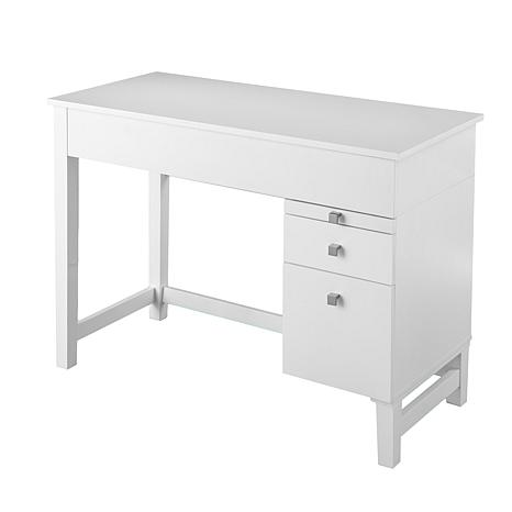 Morton Mid-Century Adjustable Height Desk - White