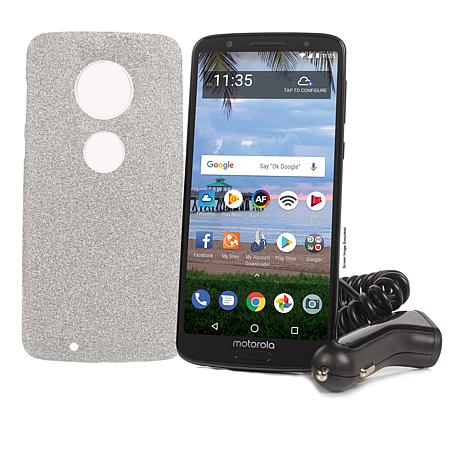 """Motorola Moto G6 5.7"""" 32GB Tracfone with 1500 Minutes, Texts and Data"""