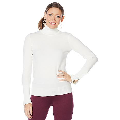 Motto Long-Sleeve Turtleneck Sweater