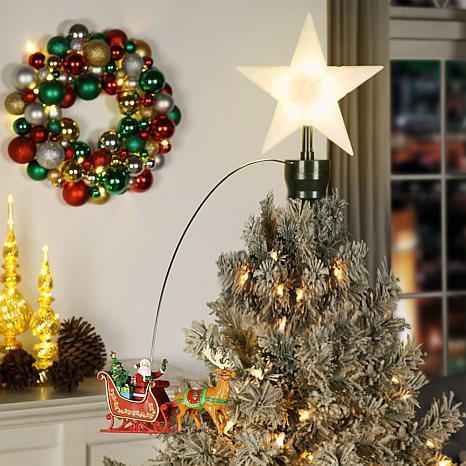 Mr Christmas Animated Santa S Sleigh Tree Topper 9205075 Hsn