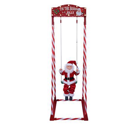 """Mr. Christmas Indoor/Outdoor 54"""" Swinging Santa"""