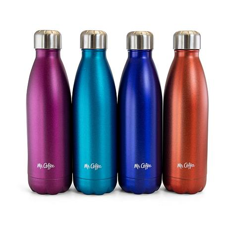Mr. Coffee Four Piece 16.9 Ounce Thermal Bottle in Assorted Colors
