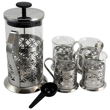 Mr Coffee Travelers Guide 5 Piece Coffee Press Set