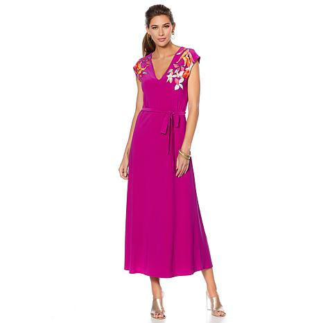 N Natori Embellished Maxi Dress
