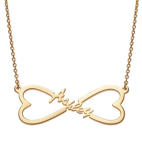 Name Heart Infinity Necklace