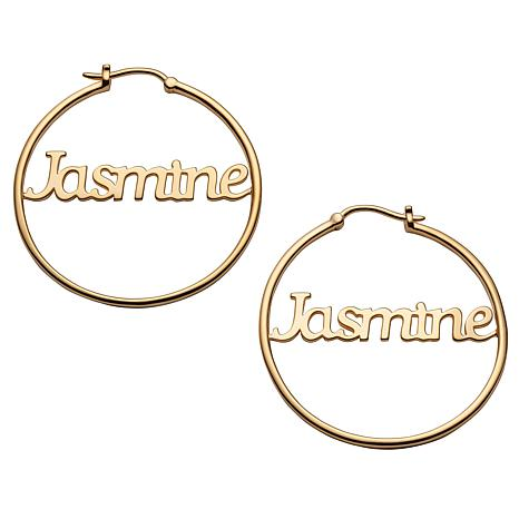 Name Medium 35mm Hoop Earrings