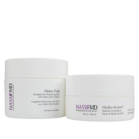 Nassif MD Detox Pads and Hydro-Screen® Face & Body Souffle Auto-Ship®