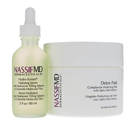 Nassif MD Hydro-Screen Hydrating Serum & Detox Pads AS