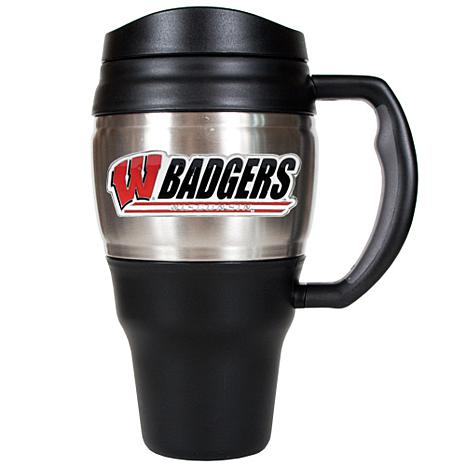 NCAA 20 oz. Heavy Duty Travel Mug - Wisconsin Badgers