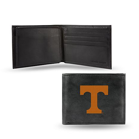NCAA Embroidered Leather Billfold Wallet - Tennessee