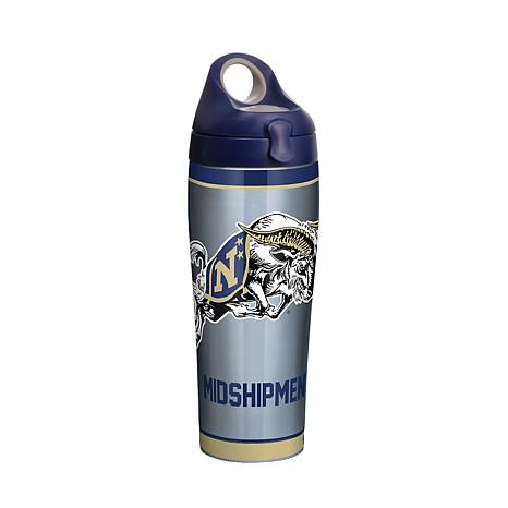 NCAA Navy Midshipmen Tradition 24 oz Stainless Steel Water Bottle w...