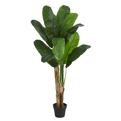 Nearly Natural 4 ft. Artificial Double Stalk Banana Tree