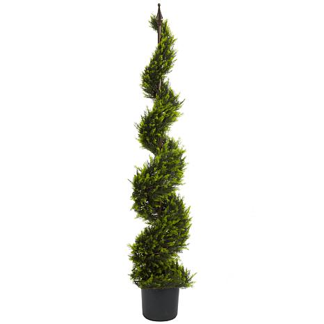 Nearly Natural 5 ft. Cypress Spiral Tree