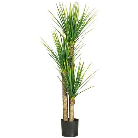 """Nearly Natural 58.5"""" Yucca Tree with 230 Leaves"""