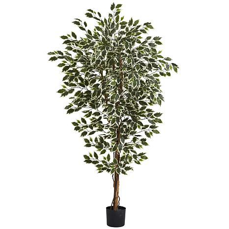 Nearly Natural 6 ft. Hawaiian Ficus Tree with 1008 Leaves