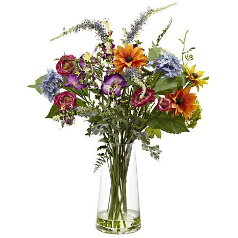 Nearly Natural Silk Spring Garden Floral Arrangement