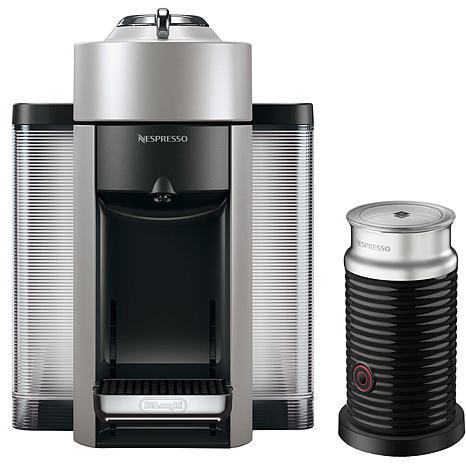 Nespresso VertuoPlus Silver Single-Serve Machine w/Aeroccino Frother