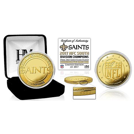 New Orleans Saints 2017 NFC South Division Champions Gold Mint Coin