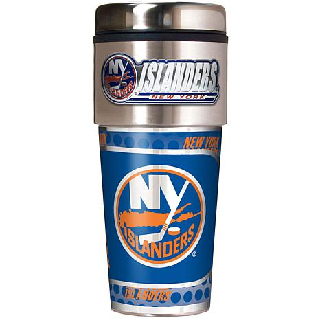 New York Islanders Travel Tumbler w/ Metallic Graphics and Team Logo