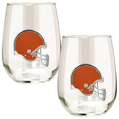 NFL 2-piece Wine Glass Set - Cleveland Browns