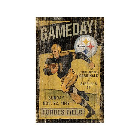 "NFL 26"" x 15"" Vintage Wall Art - Steelers"