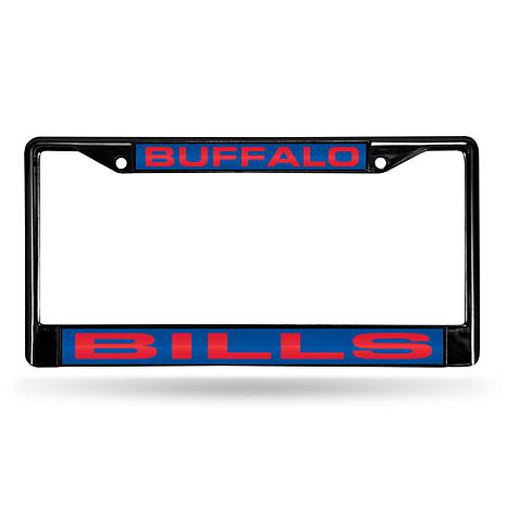 NFL Black Laser-Cut Chrome License Plate Frame - Bills