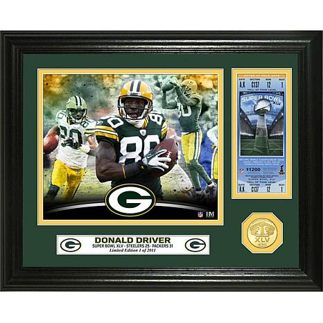 NFL Donald Driver Super Bowl 45 Ticket Bronze Coin Photo Mint
