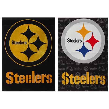 Officially Licensed Nfl Double Sided Glitter Flag
