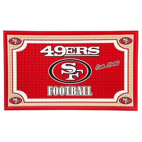 NFL Embossed Door Mat - 49ers