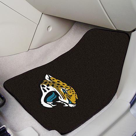 One Size Jacksonville Jaguars2-pc Embroidered Car Mat Set Team Color NFL Jacksonville Jaguars NFL