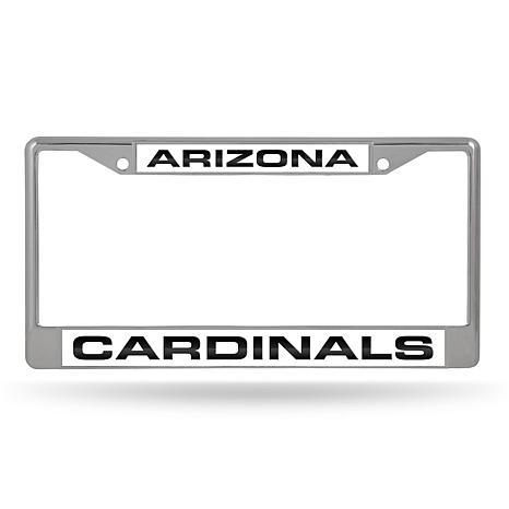 NFL Laser-Cut Chrome License Plate Frame - Cardinals