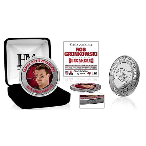 NFL Rob Gronkowski Tampa Bay Buccaneers Color Silver-Plated Coin