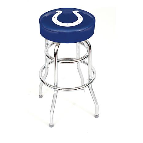 "NFL Team Logo Double-Ring 30"" Swivel Bar Stool - Colts"