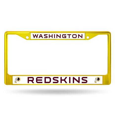 Officially Licensed NFL Yellow/Maroon Chrome License Plate Frame ...