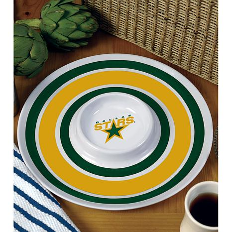 NHL Melamine Chip and Dip Serving Tray - Stars