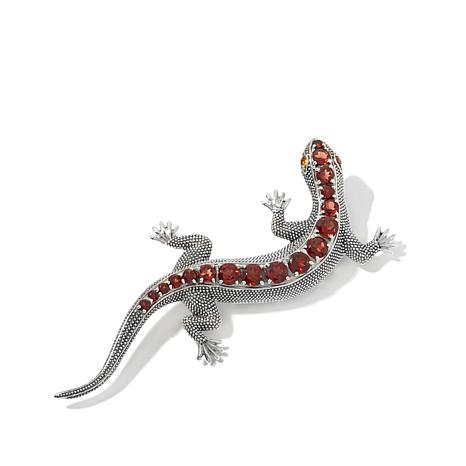 "Nicky Butler Gemstone Sterling Silver ""Lizard"" Brooch"