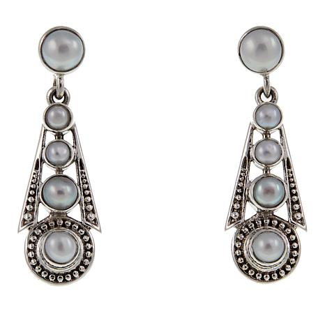 Nicky Butler Graduated Cultured Pearl Drop Sterling Silver Earrings